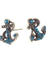 Ancrage boucles d'oreilles diamant