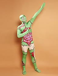 Verde Walker teñido Lycra Zentai Full Body