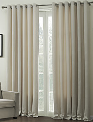 (Two Panels Grommet Top) Modern Geometric Energy Saving Curtain