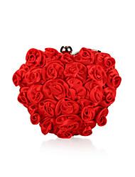 Satin mit Rose Abend Handtaschen / Kupplungen mehr Farben erhältlich