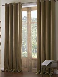 soie faux haute précision lourd rideau lisse (une face supérieure de l'oeillet)
