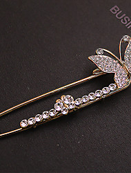 Women's Full Zircon Butterfly Brooch