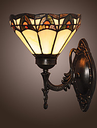 Tiffany Wall Light with 1 Light in Warm Light
