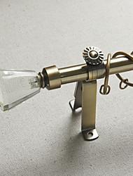Crystal Diamond Finial Antique Bronze Finish Drape Rod