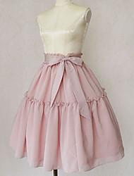 Elegant Knee-length Chiffon Classic Lolita Skirt