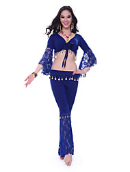 Dancewear Spandex with Lace Belly Dance Top and Skirt For Ladies More Colors