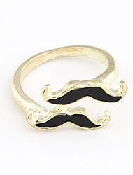 Alliage Acrylique Anneau de modèle Double-Moustache (couleurs assorties)
