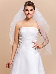 4 couches Belle Coude de voile de mariée avec strass