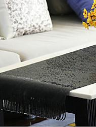Moderne Noir Chemin de Table en aluminium