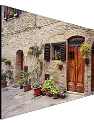 натянутым холстом искусства пейзаж цветы на стене, Тоскана, Италия Монте Наглером готовы повесить