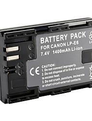 LP-E6 декодируется перезарядки литий-ионный аккумулятор для Canon 5D Mark II / 7d / 60d