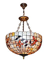 120W classique Tiffany lumière pendante avec Colorful Nature Matériel de Shell Shade intégré dans le tournesol Feature