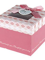 Coffret rose avec ruban bowknot Et Tag