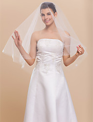 1 Layer Marvelous Elbow Wedding Bridal Veil With Cut Edge
