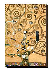 Фриз II Густава Климта Известные натянутым холстом для печати