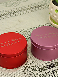 12 Piece/Set Favor Holder - Cylinder Metal Favor Tins and Pails/Favor Boxes Personalized