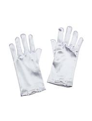 Нежные атласные пальцев запястье перчатки длиной Цветочница