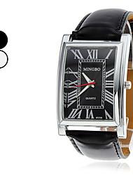 Men's Analog PU Quartz Wrist Watch (Assorted Colors)