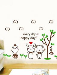 Chaque jour est heureux autocollants de mur de la journée