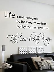 Декоративная наклейка на стену с высказыванием о жизни на английском языке