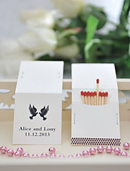 Wedding Décor Personalized Matchbooks - Birds (Set of 25)