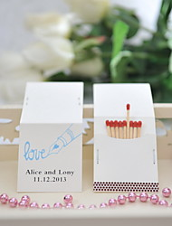 Wedding Décor Personalized Matchbooks - Love Print (Set of 50)