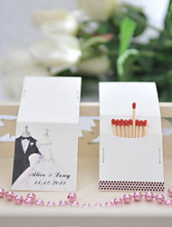 Wedding Décor Personalized Matchbooks - Bride & Groom (Set of 25)