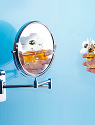 Gendarmerie style contemporain Chrome Brass Bathroom Wall Vanity Mirror