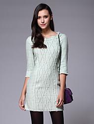 ZIMMUR Fashion Round Neck Sheath High Waist Dress
