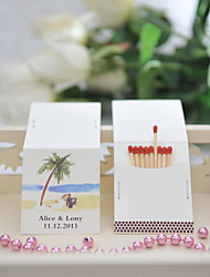 Wedding Décor Personalized Matchbooks - Honeymoon (Set of 25)