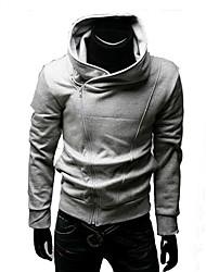 Männer Schräg Zipper Hoodie