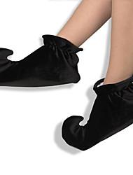 Sapatos Palhaço/Burlesco Festival/Celebração Trajes da Noite das Bruxas Preto Cor Única Sapatos Dia Das Bruxas Unisexo Uniforme de Pano