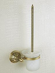 rack de casa de banho, escova de latão, bronze venetian