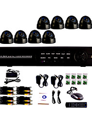 8 Channel One-Touch-Online CCTV DVR-System (8 Indoor Dome Kamera mit Sony CCD)