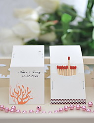 Wedding Décor Personalized Matchbooks - Coral (Set of 50)