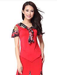 Dancewear Crystal Cotton and Viscose Latin Dance Top For Ladies More Colors