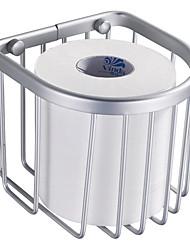 Contemporary Space Aluminium Basket Toilet Roll Holder
