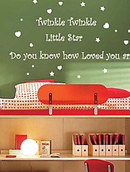 Twinkle Twinkle Little Star Love Wall Sticker