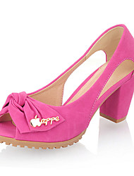 Suede Chunky Heel Sandals With Bowknot Party / Evening Shoes (More Colors)