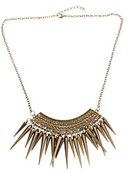 Punk Style Button Nailing Tassel Necklaces