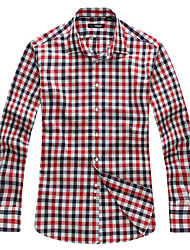 Men's Slim Check Long Sleeve Shirt