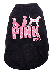 Pink Spot Dog Pattern Pure Cotton Vest for Dogs (L)