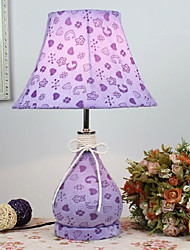 Cute Table Light with Elegant Fabric Shade Heart-Shaped Spots Milk Bottle 220-240V