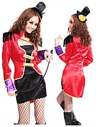 Rojo y Negro Traje de maestro de ceremonias Uniforme Mujeres