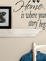 Home is Where Your Story Begins Wall Sticker