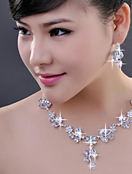 Jewelry Set Women's Wedding / Engagement / Special Occasion Jewelry Sets Alloy Crystal Necklaces / Earrings As the Picture