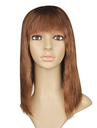 "Lace Front 100% Indian Remy Hair 12"" Silky Straight Hair Wigs Multiple Colors Availble"