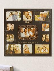Ensemble de 11 Amour Cadre en bois de papa