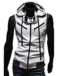 Men's Zipper Knitted Hoodie Waistcoat