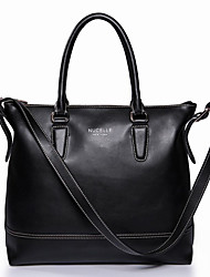 Nucelle Cow Leather Black Dual Use Tote